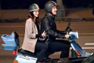 Tom Hanks and Julia Roberts riding a Yamaha Riva